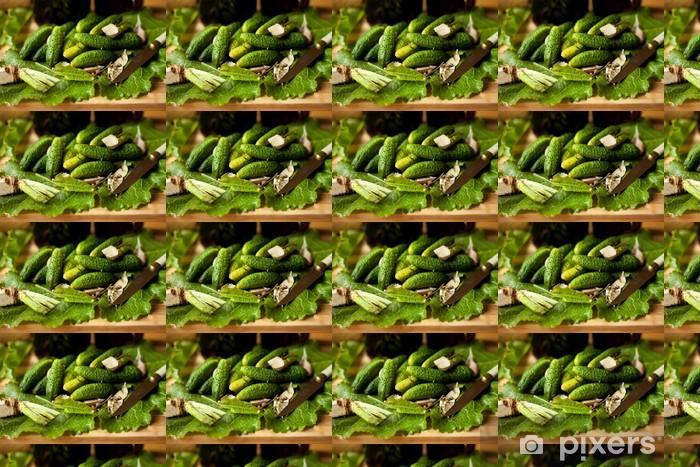 Tapeta na wymiar winylowa Ogórki,małosolne,ogórek,zielony,małosolny - Tematy