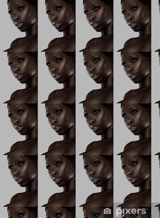 Papier peint vinyle sur mesure Portrait d'une beauté africaine - Femmes