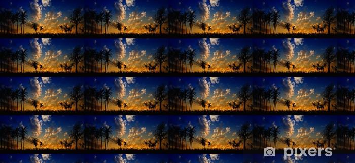 Papel pintado estándar a medida Paisaje nocturno - Cielo