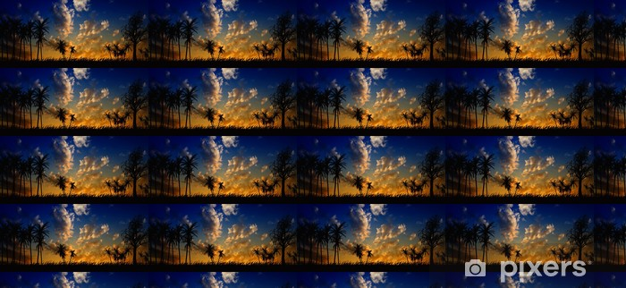 Night landscape Vinyl custom-made wallpaper - Skies