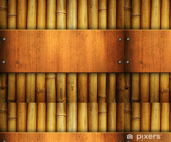 Tapete Holzplatte Auf Bambus Hintergrund Pixers Wir Leben Um