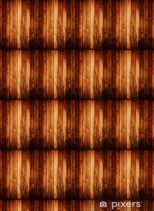 Vinylová tapeta na míru Grunge hnědé dřevěné desky. - Témata
