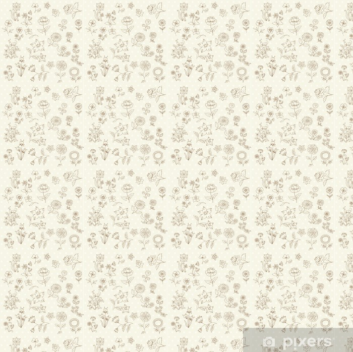 Set of Hand Drawn Flowers - for scrapbook and design in vector Vinyl custom-made wallpaper - Flowers