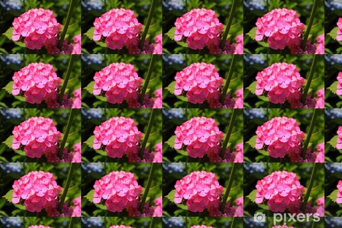 Papier peint vinyle sur mesure Rouge fleur d'hortensia - Fleurs