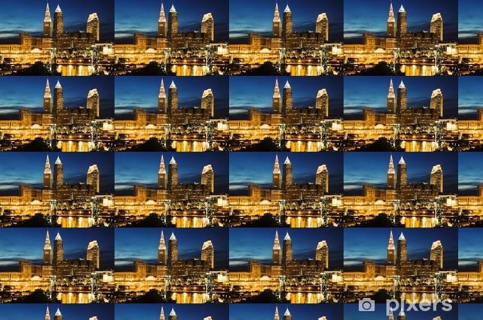 Cleveland during blue evening Vinyl Wallpaper - Urban
