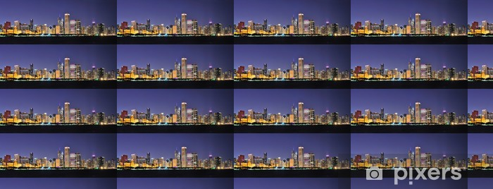Vinylová tapeta na míru Chicago noc panorama - Amerika