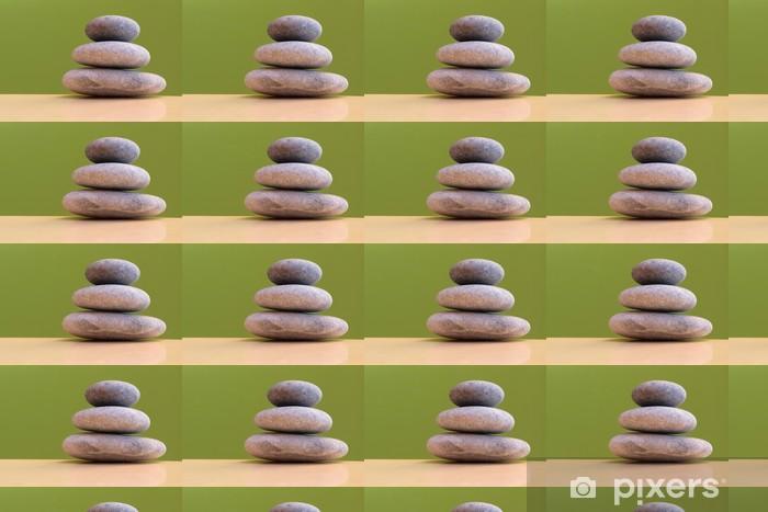 Papier peint vinyle sur mesure Trois pierres sur fond vert - l'harmonie, la stabilité - Autres objets