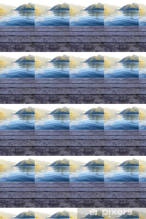 Papier peint vinyle sur mesure Paysage de nuit le lac de Lugano - Europe