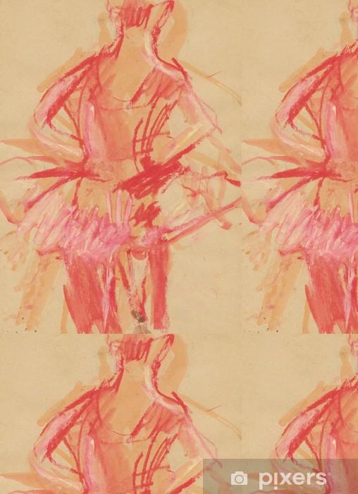 Vinylová Tapeta Baletka zezadu, akvarely technika - Umění a tvorba