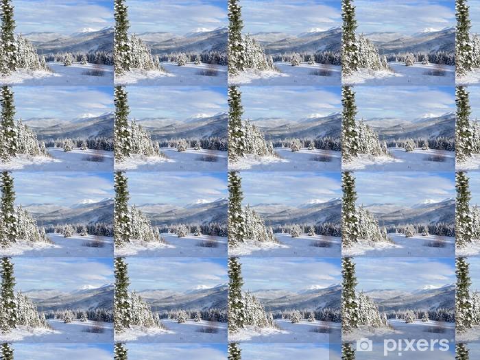 Tapeta na wymiar winylowa Piękny widok Canadian Winter - Góry