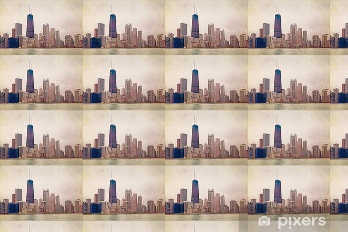 Papel pintado estándar a medida Fotografía Ciudad Vintage (Diseño) - Conceptos de negocios