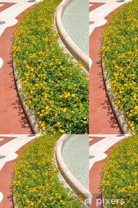 Vinil Duvar Kağıdı Montecatini Terme İtalya kaplıca kentinde Fowers - Çiçekler