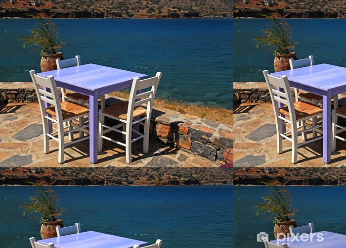 outdoor restaurant in Greece Vinyl Wallpaper - Europe