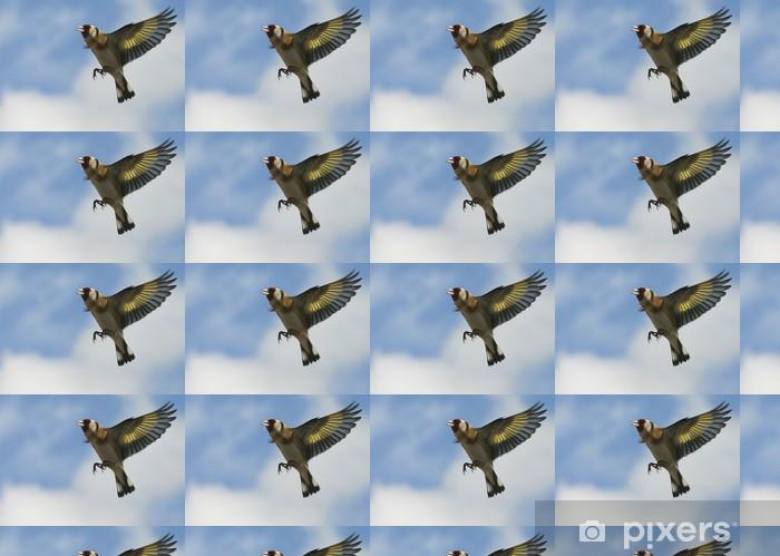 Papier peint vinyle sur mesure Le chardonneret 02 - Oiseaux