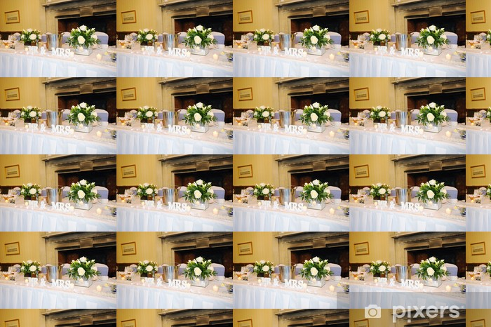 Papier peint vinyle sur mesure Top table à mariage - Couples