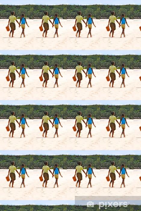 Papier peint vinyle sur mesure Enfant sur la plage - Afrique - Madagascar - Nosy Iranja - Afrique