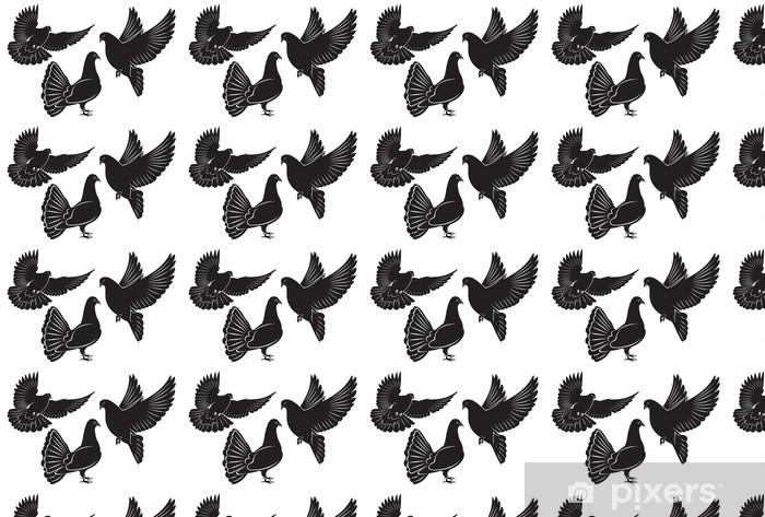 Papier peint vinyle sur mesure Pigeon - Oiseaux