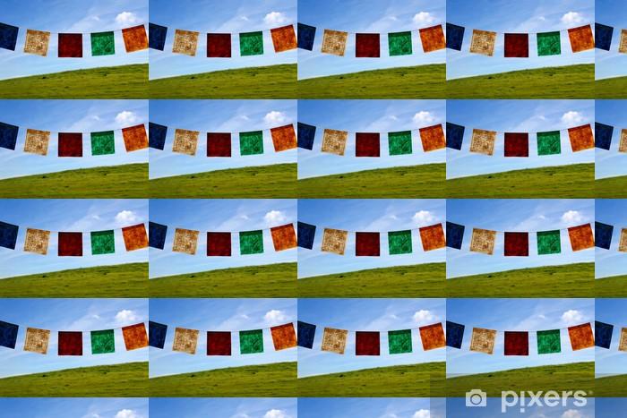 Tapeta na wymiar winylowa Flagi modlitewne - Religie
