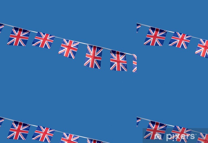 Papel de Parede em Vinil Small British Union Jack celebration flags. - Signos e Símbolos