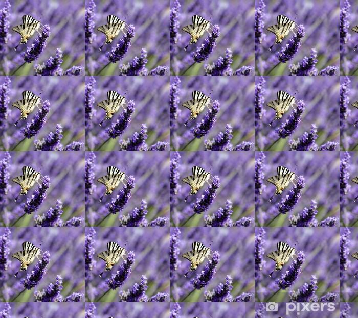 Vinyltapete nach Maß Schmetterling auf Lavendel (Iphyclides podalirius) - Themen