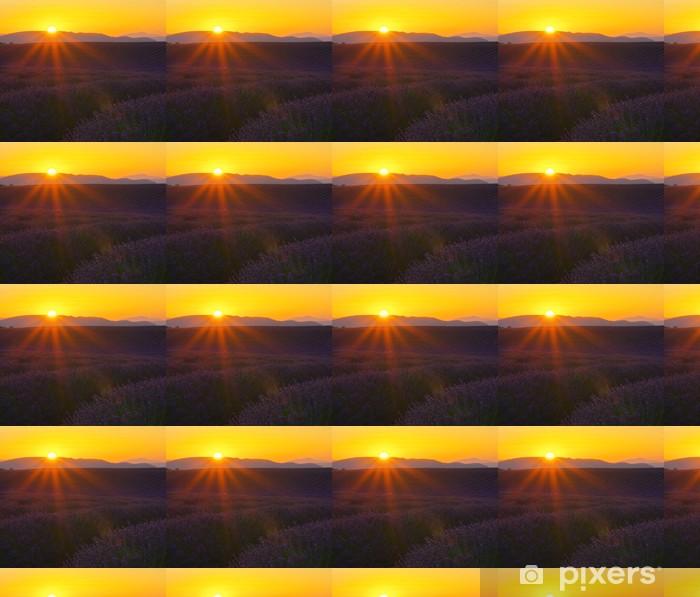 Vinylová tapeta na míru Lavendelfeld Sonnenuntergang 01 - Zemědělství
