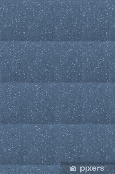 Tapeta na wymiar winylowa Krople wody na niebieskim metalicznym - Tła