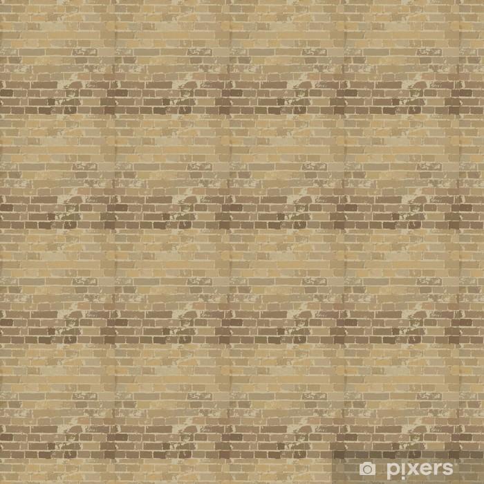 Papier peint vinyle sur mesure Beige texture de mur de briques. Vector, EPS10 - Thèmes