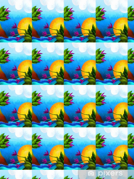 Papier peint vinyle sur mesure Paesaggio astratto - Merveilles naturelles