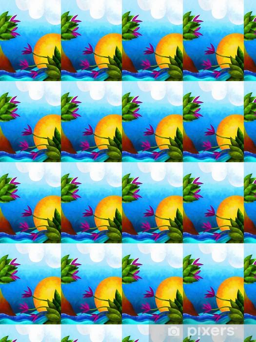 Vinyltapete nach Maß Abstrakte Landschaft - Naturwunder