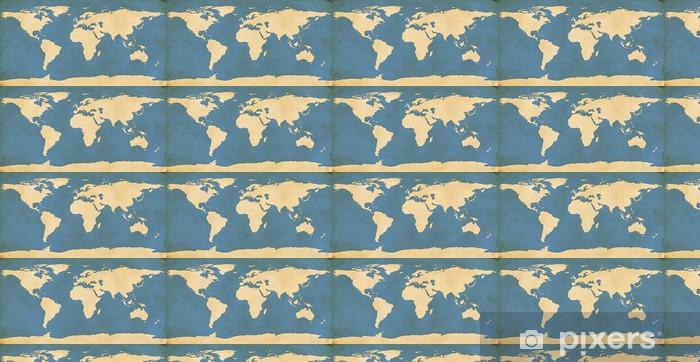 Vinylová tapeta na míru Aged Mapa světa - Do restaurace