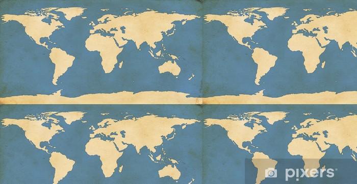 Vinylová Tapeta Aged Mapa světa - Do restaurace