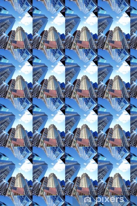 Papier peint vinyle sur mesure De New York et les bâtiments SES. - Villes américaines