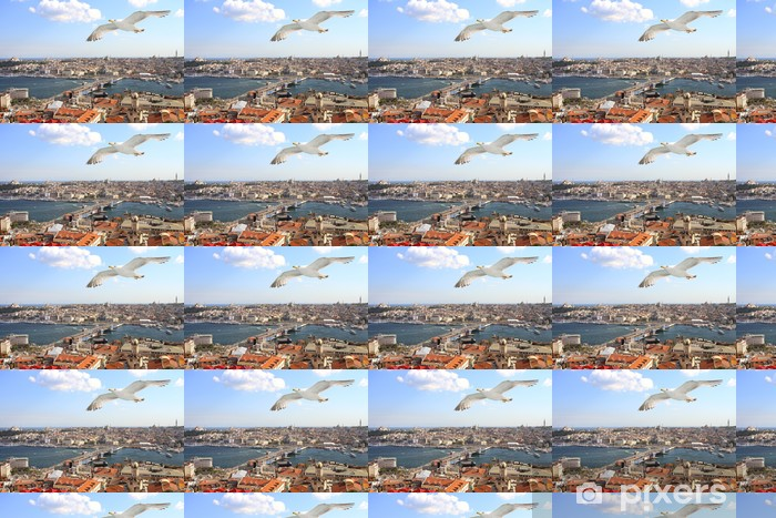 Papier peint vinyle sur mesure Vue d'oeil d'oiseaux d'Istanbul - Moyen Orient