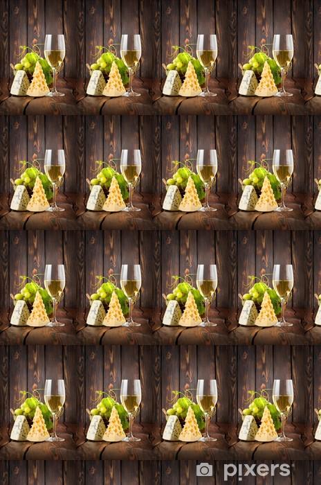 Papier peint vinyle sur mesure Verre à vin et fromage - Repas
