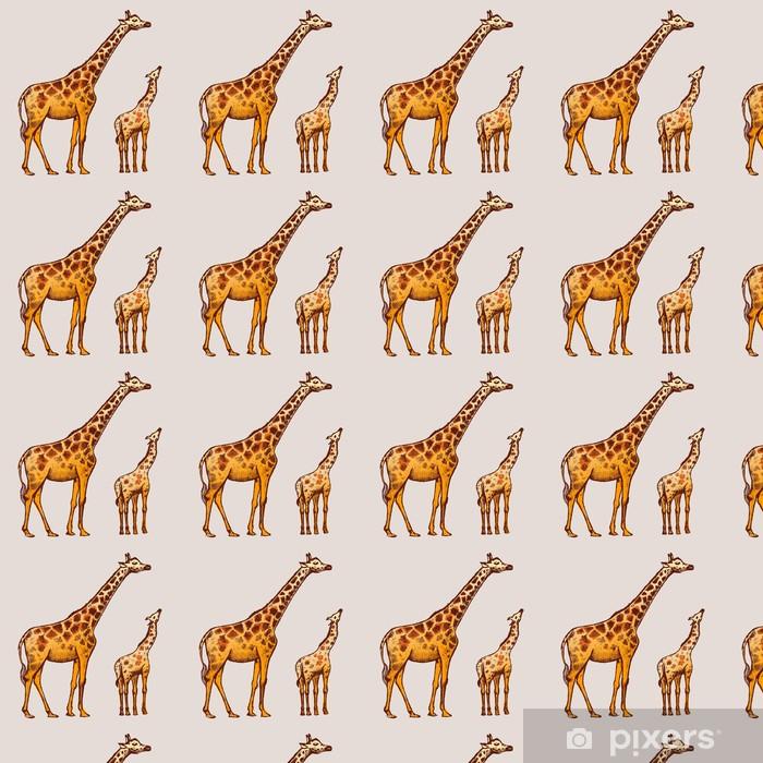 Tapeta na wymiar winylowa Obraz Giraffe Art - Sztuka i twórczość