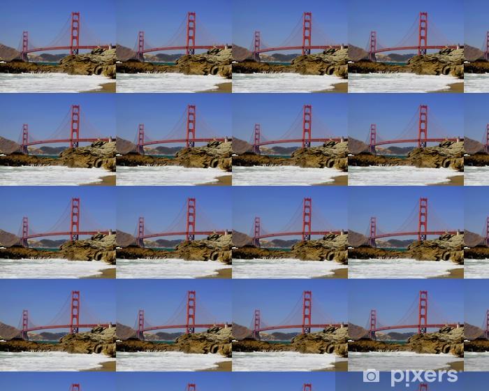 Golden Gate from Baker Beach Vinyl custom-made wallpaper - North America