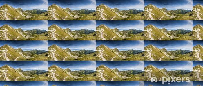 Papier peint vinyle sur mesure Montagnes en été - Thèmes
