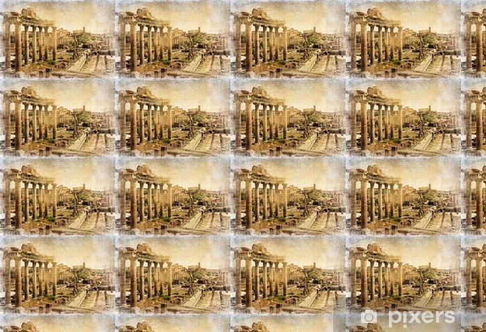 Papier peint vinyle sur mesure Forums romains - retro photo - Thèmes
