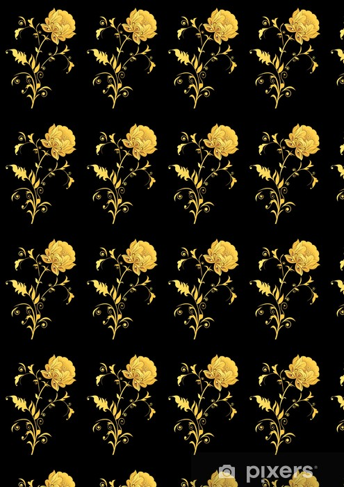 Yellow Decorative Flower On Black Background Wallpaper Pixers We Live To Change