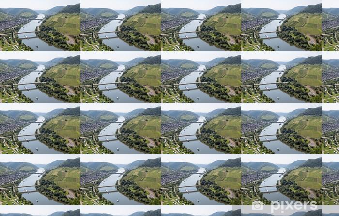 Papier peint vinyle sur mesure Paysage avec la rivière Moselle près de Neef en Allemagne - Europe