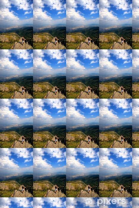 Tapeta na wymiar winylowa Mężczyzna w wysokiej góry pionowej - Europa