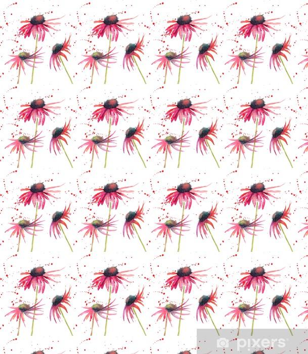 Papier peint vinyle sur mesure Fleurs d'été, fleurs d'aquarelle - Fleurs