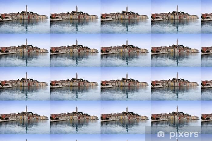 Tapeta na wymiar winylowa Rovinj stare miasto, katedra św Eufemii w Istria, Chorwacja - Europa