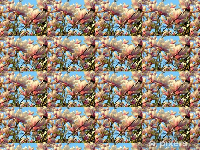 Papier peint vinyle sur mesure Arbre de magnolia en fleurs - Thèmes