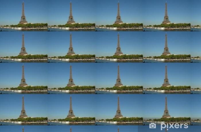 Papier peint vinyle sur mesure Carte Postale Paris - Villes européennes