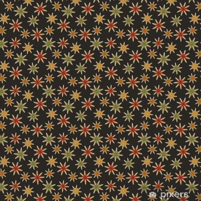 Papier peint vinyle sur mesure Rétro Seamless fleur fond foncé - Arrière plans
