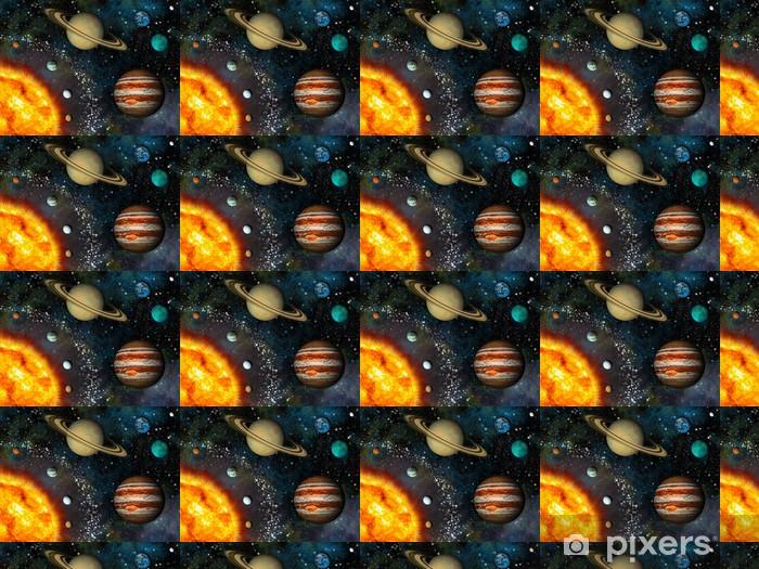 Vinylová tapeta na míru Realistické Solar displej Systém obsahuje Slunce a devět planet - iStaging