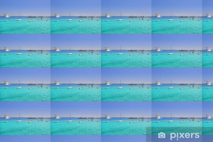 Papier peint vinyle sur mesure Plage Lanzarote Playa Blanca dans l'Atlantique - Vacances