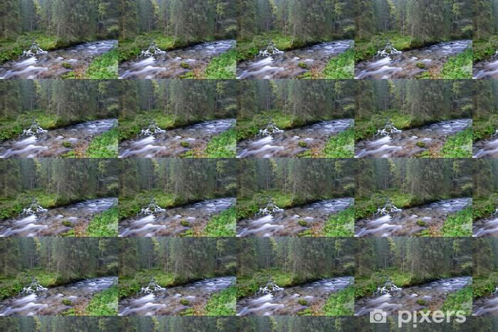 Papier peint vinyle sur mesure Streams VTT dans la forêt - Eau
