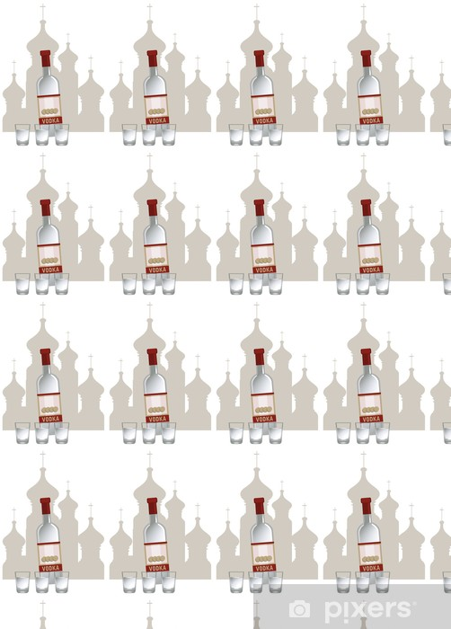 Papier peint vinyle sur mesure Russian Vodka - Asie